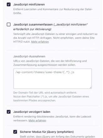 Minify javascript