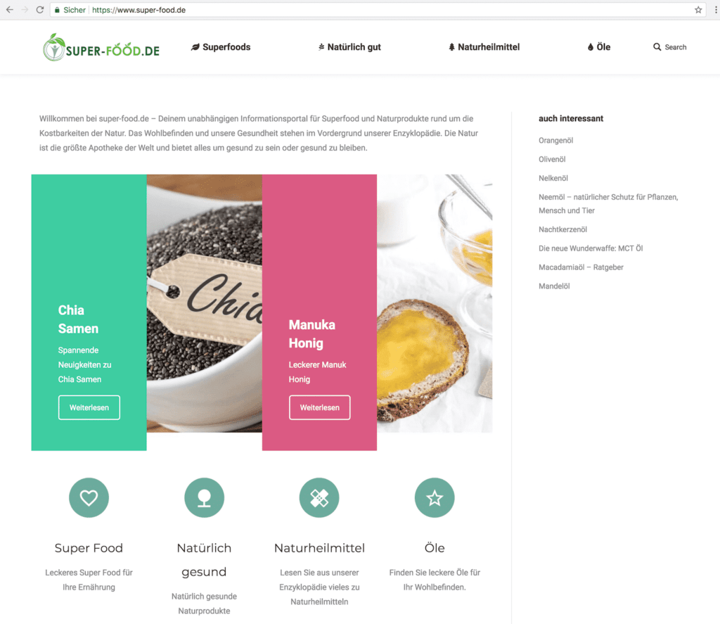 super-food-homepage
