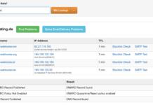 Prüfung der Einträge für DKIM, SPF, DMARC