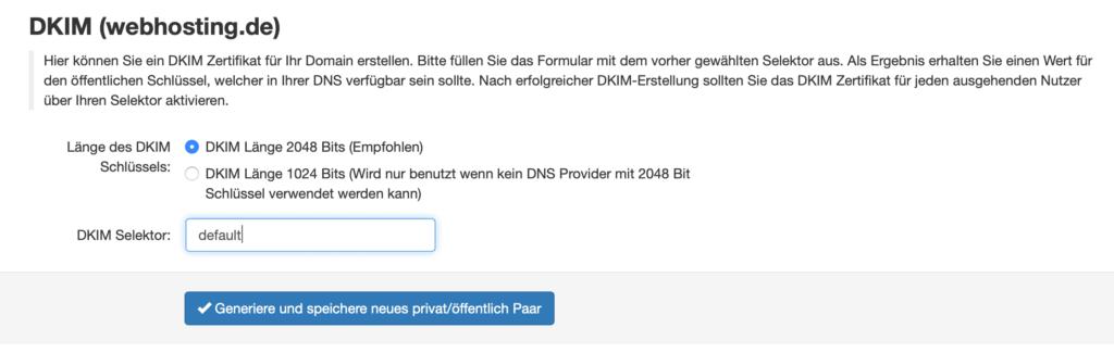 IStore Genera DKIM gateway di protezione antispam