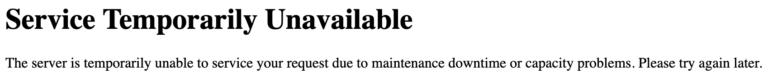 Plesk php Dienst reparieren – Service Temporarily Unavailable